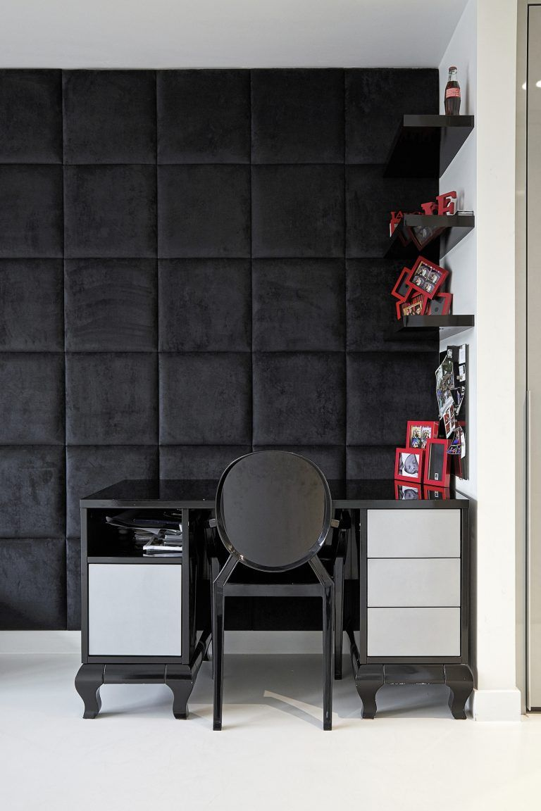 Home interior icon glamorous home office with upholstered wall icon london nw
