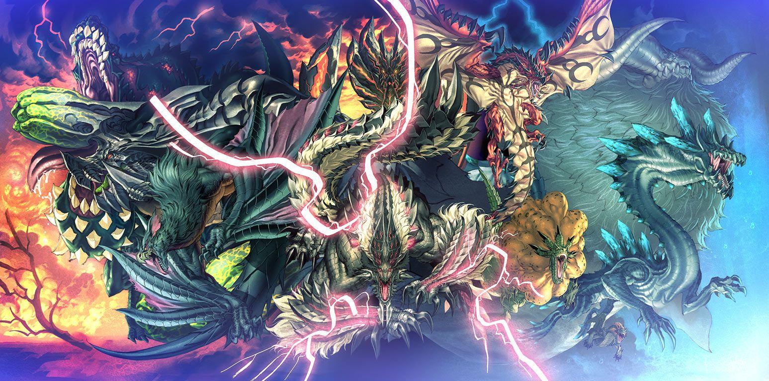 Tags Fanart, Monster Hunter Series, Pixiv, Lagiacrus
