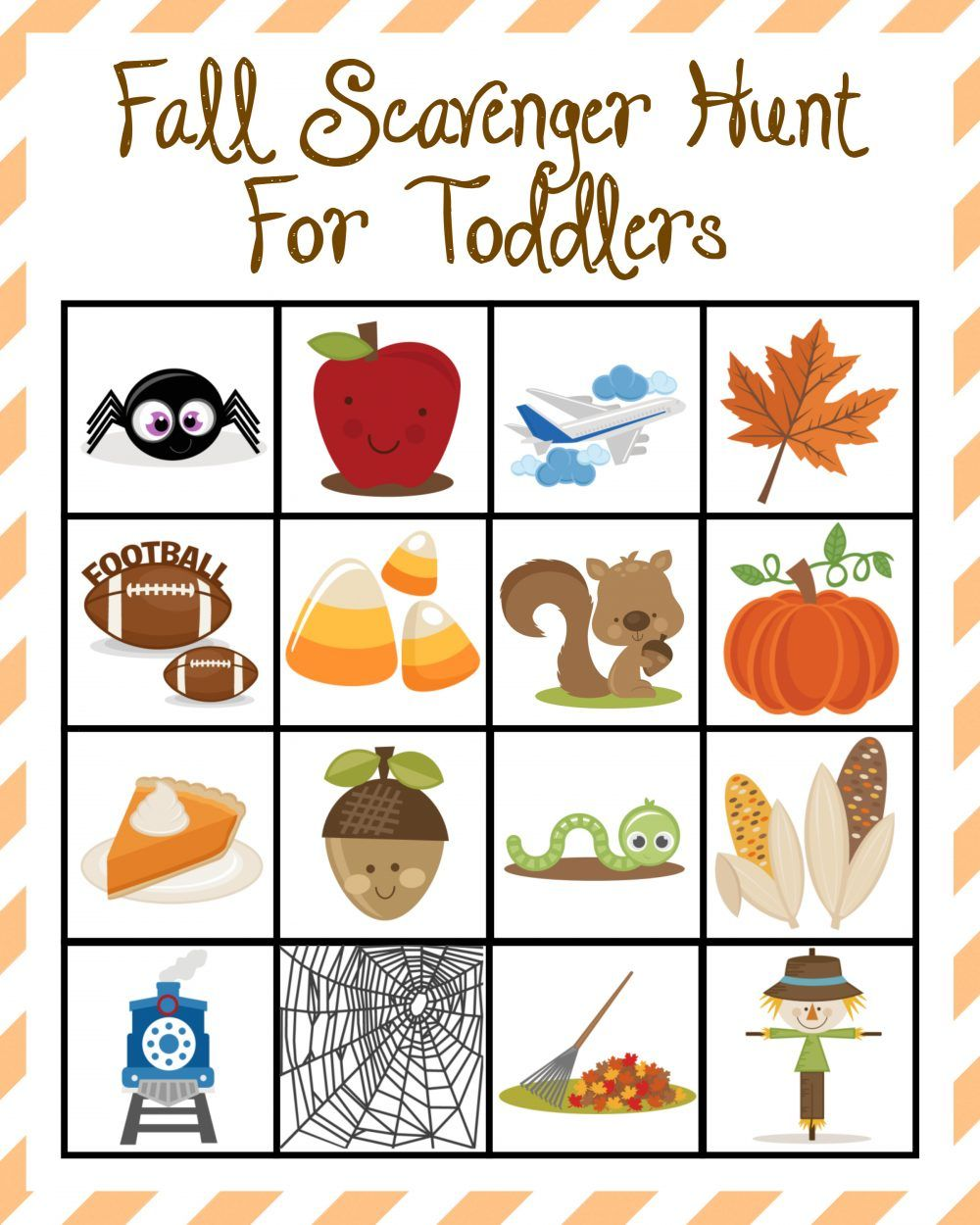 Fall Scavenger Hunt For Toddlers Fall crafts for kids