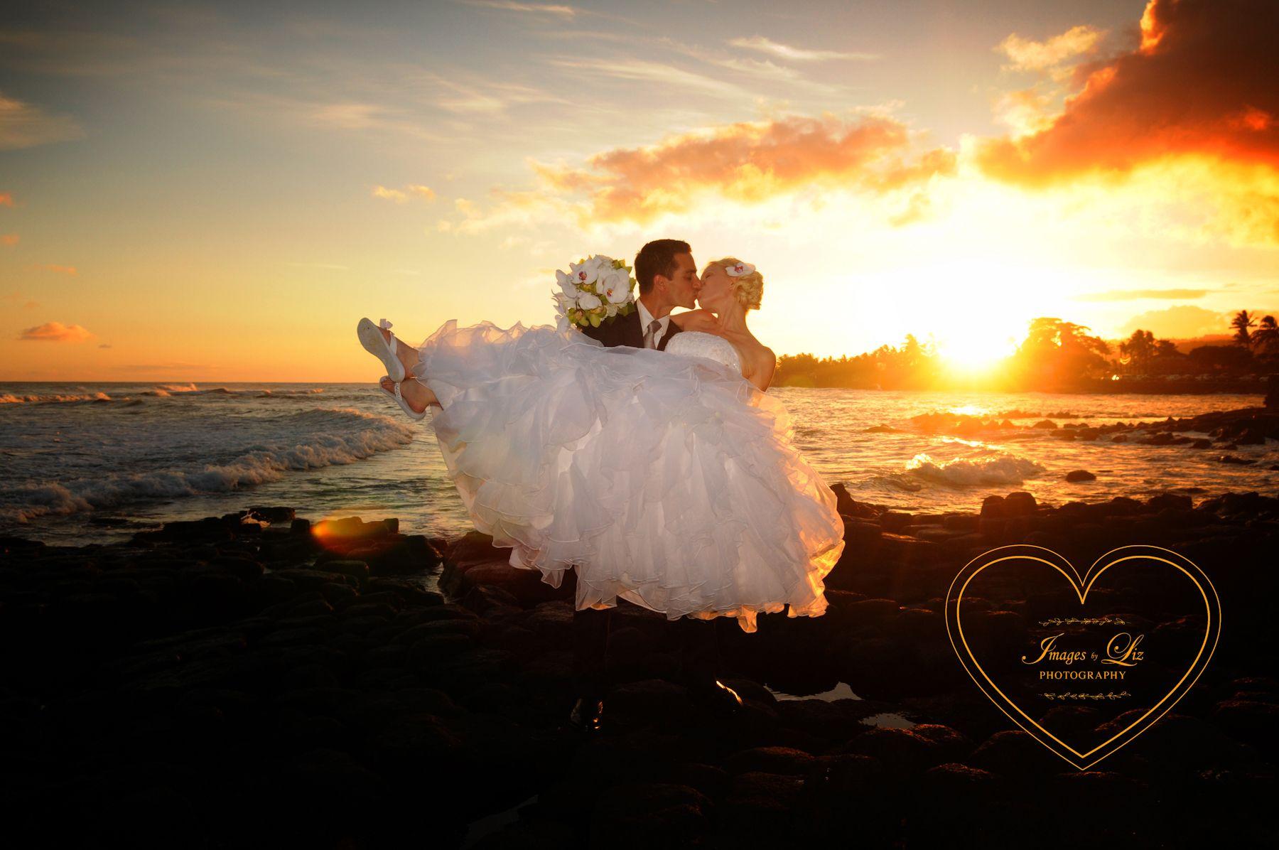 Beautiful Sunset Fronting The Beach House Kauai