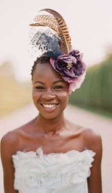 6a234ab3 Fascinators can make a bold statement and alternative to a veil. African  American Bride, Black Bride