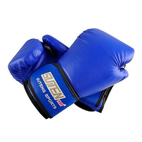 SUTEN PU Boxing Gloves Kickboxing MMA Training Fighting Sandbag Gloves White Top