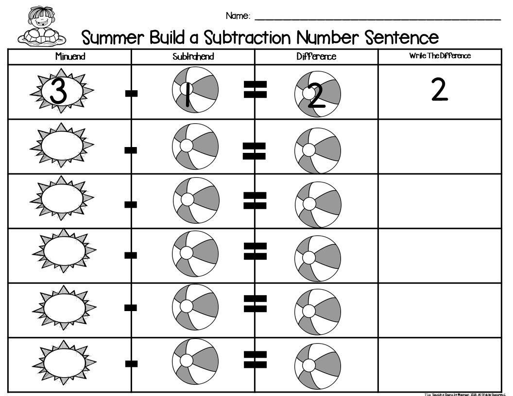 Summer Build 2 Addend 0 20 Addition Amp Subtraction Number