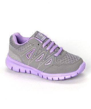 Gray & Purple Running Shoe