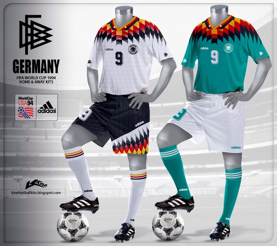 a251e3a0d Germany world cup 1994 home   away jersey kit.