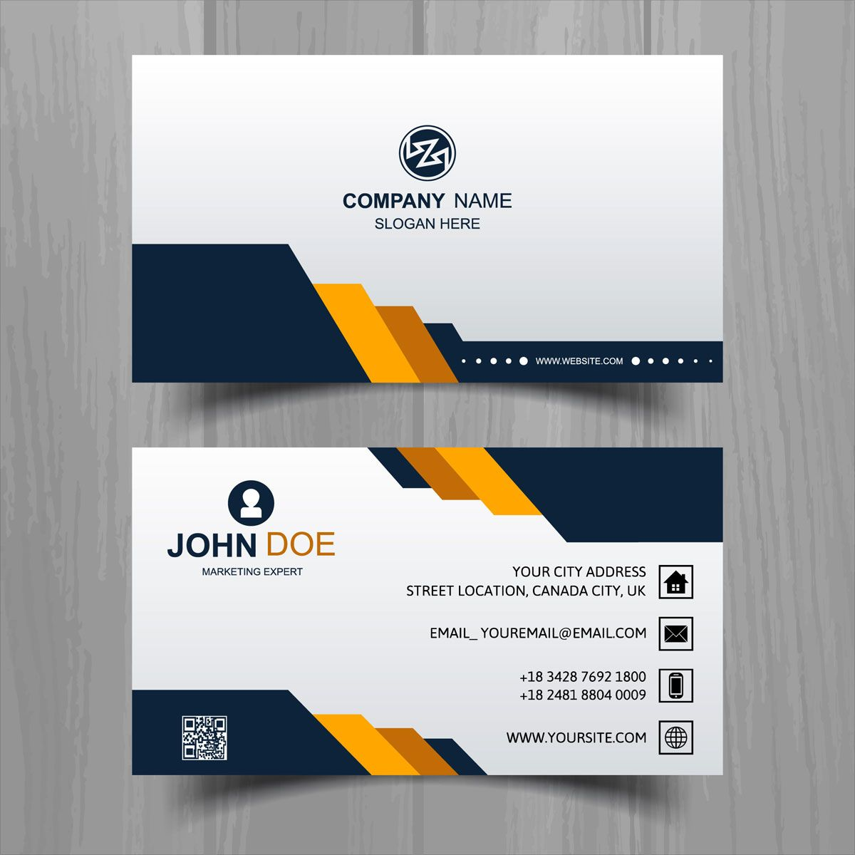 Abstract Stylish Wave Business Card Template Design Business Card Template Design Elegant Business Cards Business Card Template