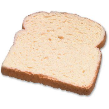 1 Slice Of Fake Food Replica White Bread An Appropriate Portion Size For Nutritional Instruction Also Children Will Love As It Is Food Fake Food Food Props