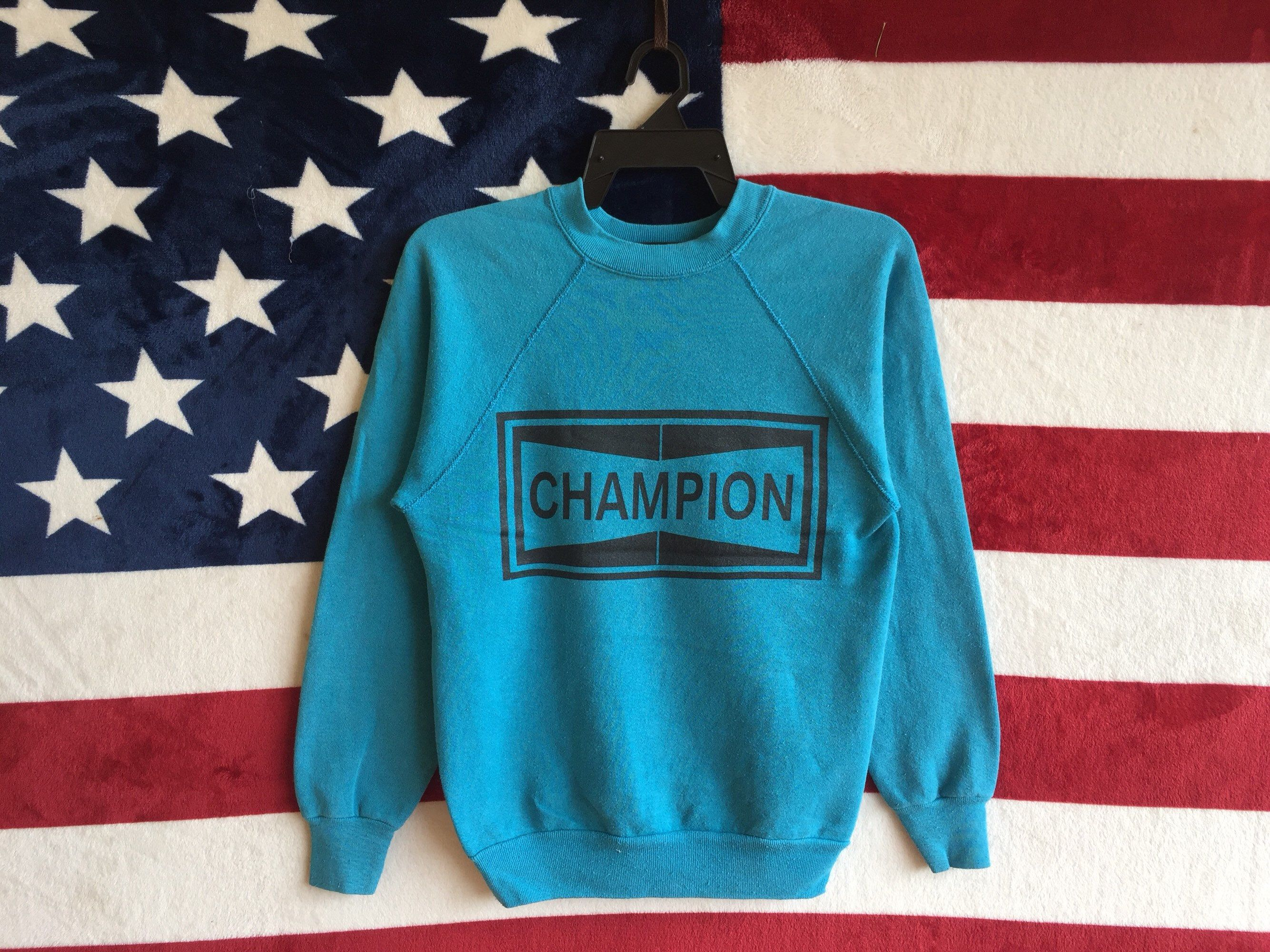 Excited To Share The Latest Addition To My Etsy Shop Vintage 80s Champion Spark Plugs Sweatshirt Turquoise Blue Chapion Trending Outfits Clothes Sweatshirts [ 2000 x 2668 Pixel ]