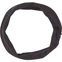 Scunci Black w/ Silver Lurex Turban Styled Headwrap
