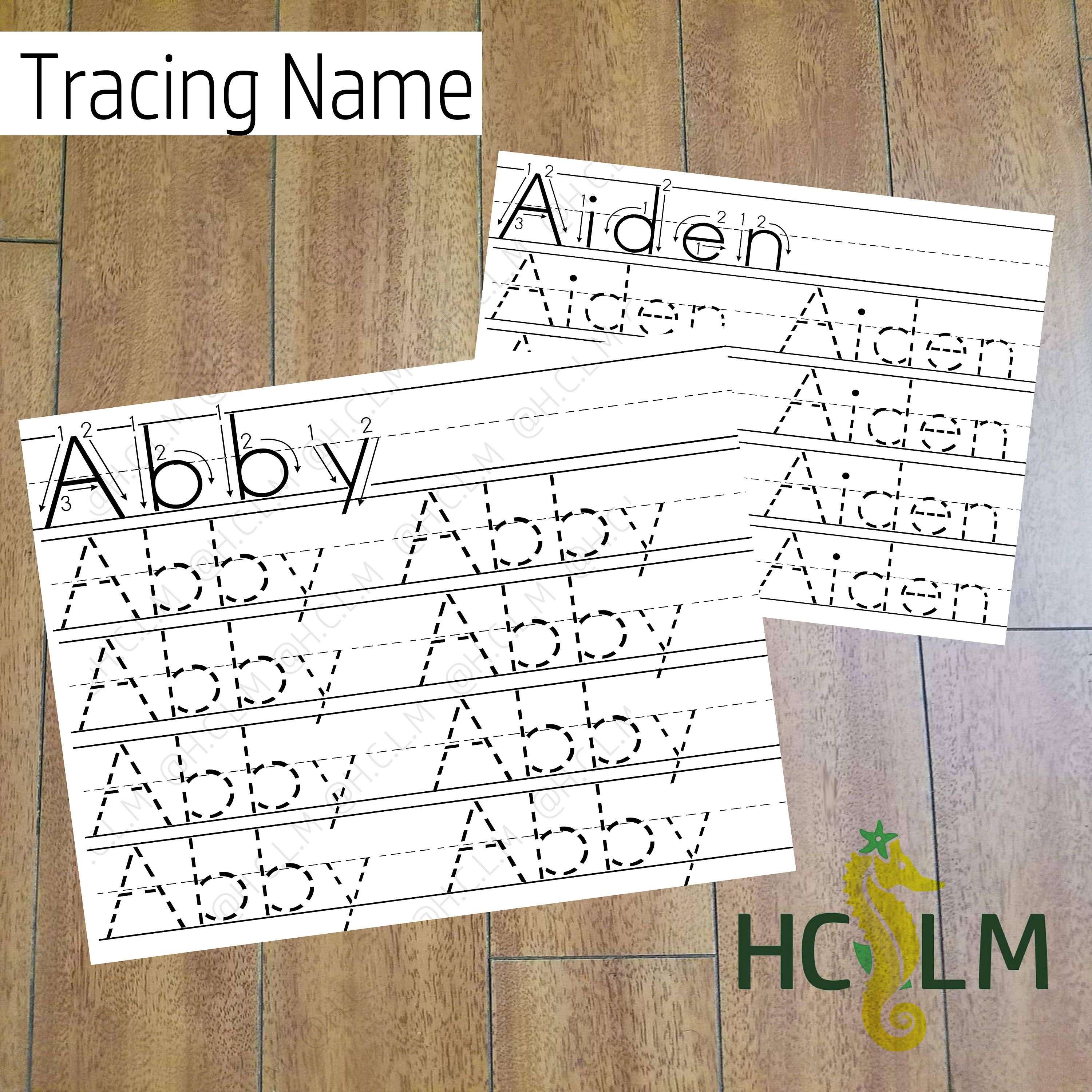 Kids Name Tracing Worksheet Learning To Write Children S