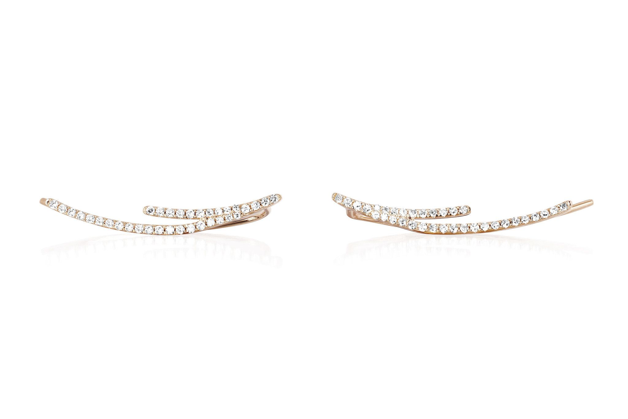 EF Collection curved bar ear cuff - Metallic kq8YMKUXn