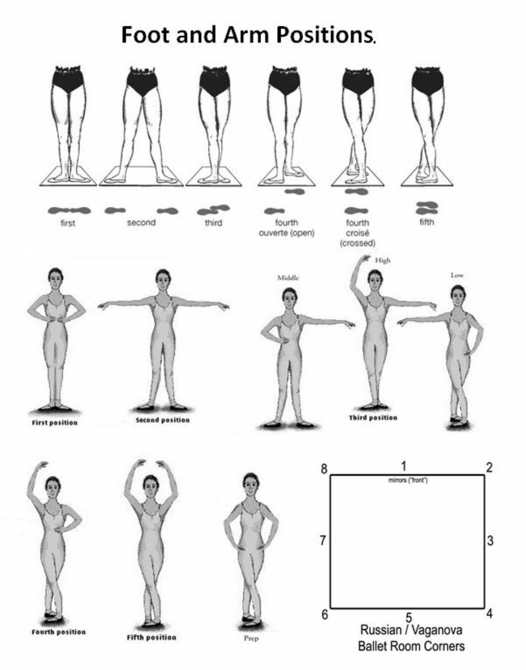 Ballet arm/leg positions | ballet exercise and more in 2019