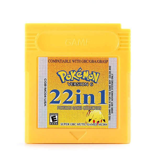 22 in 1 Game Cartridges Collection Card English Collector Version for Nintendo GBA GBC GBASP