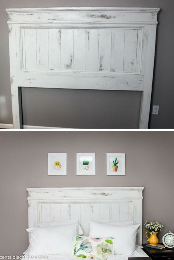 DIY Build this Farmhouse Style Headboard for around 100 It will be the center of your bedroom makeover