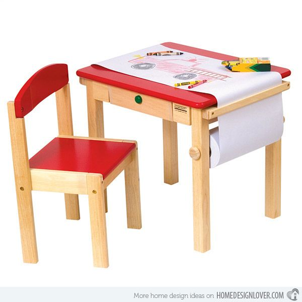 15 Kids Art Tables And Desks For Little Picassos Home Design Lover Kids Table Chair Set Kids Art Table Toddler Art Table