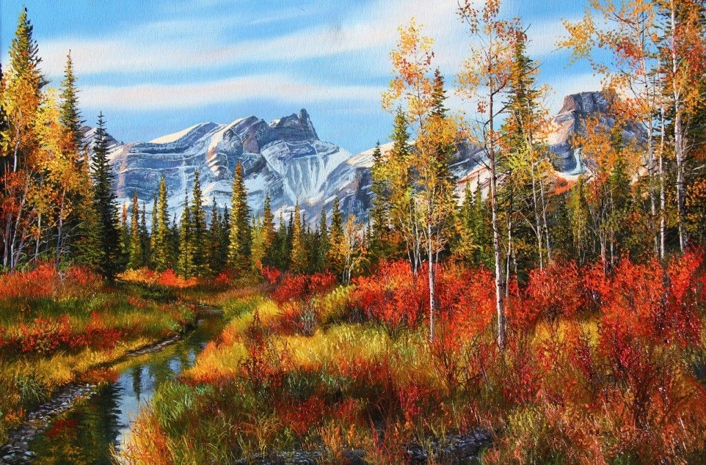 Andrew kiss landscape paintings scenery paintings