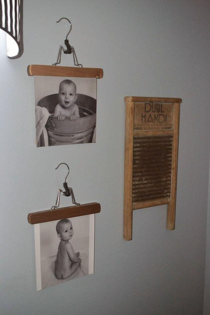 Photo of So eine süße und billige Idee !! Verwenden Sie Hosenbügel, um Bilder …