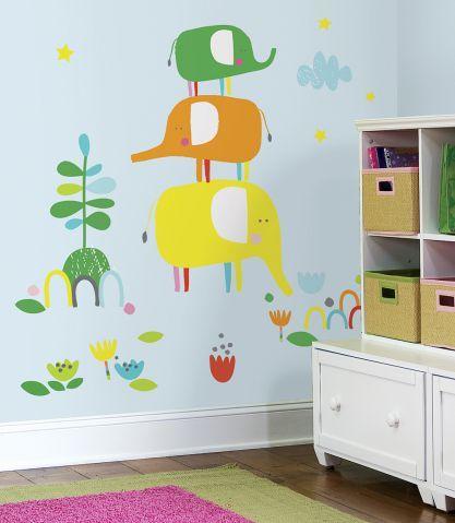 Zutano RoomMates Elephantasia Peel and Stick Giant Wall Decals