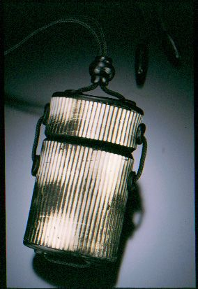 Striped Inro Box Pendant by Gwen Gibson