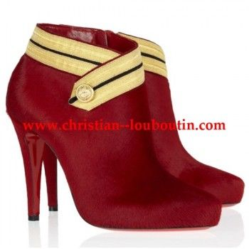 Christian Louboutin Marychal 100 suede ankle boots