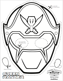 This is a graphic of Agile Power Ranger Mask Printable