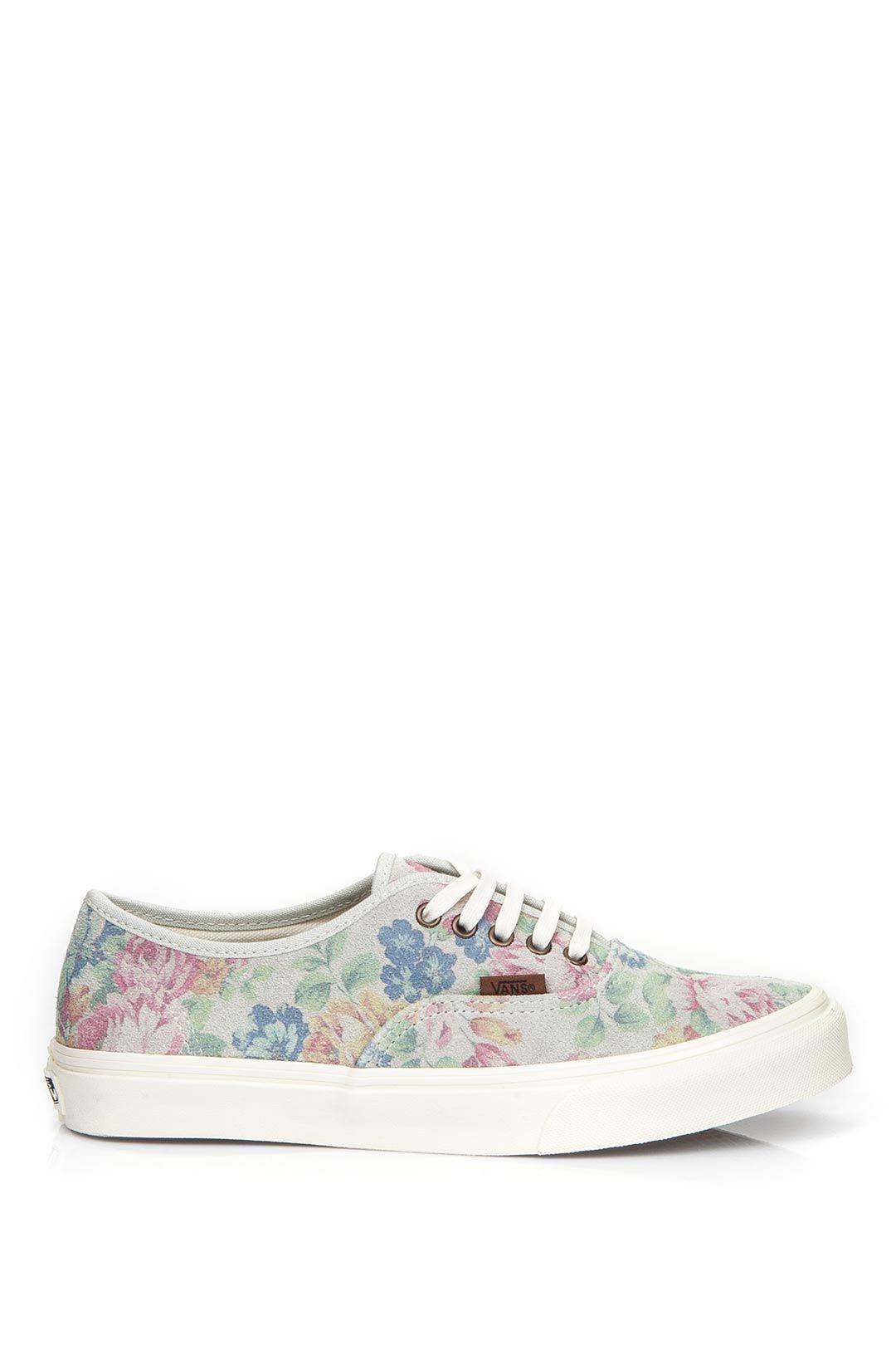 255649dac968ac Vans Authentic Slim (Suede Floral) Marshmallow Vans  Lidyana.com ...