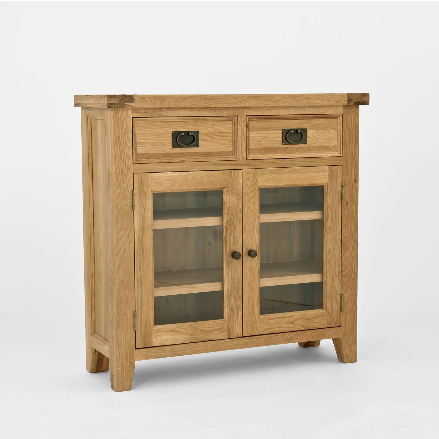 Chiltern Oak Small Sideboard Bookcase is an unusual item of