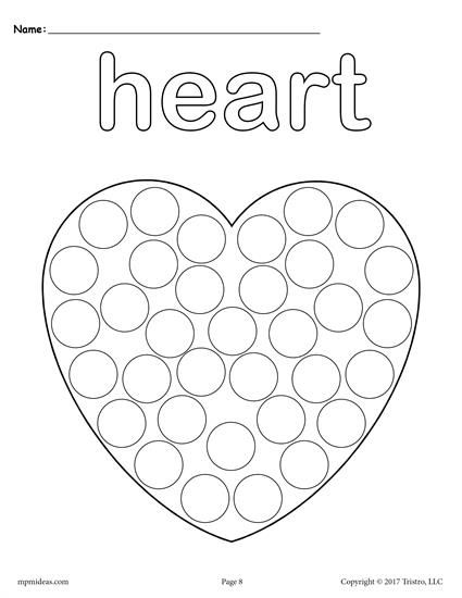 pre k dot to dot coloring pages | 12 FREE Shapes Do-A-Dot Printables! | Toddler preschool ...