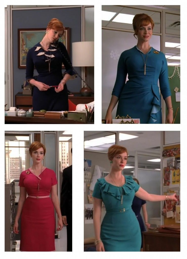 Vestidos Joan Harris | Mad Men style | Pinterest