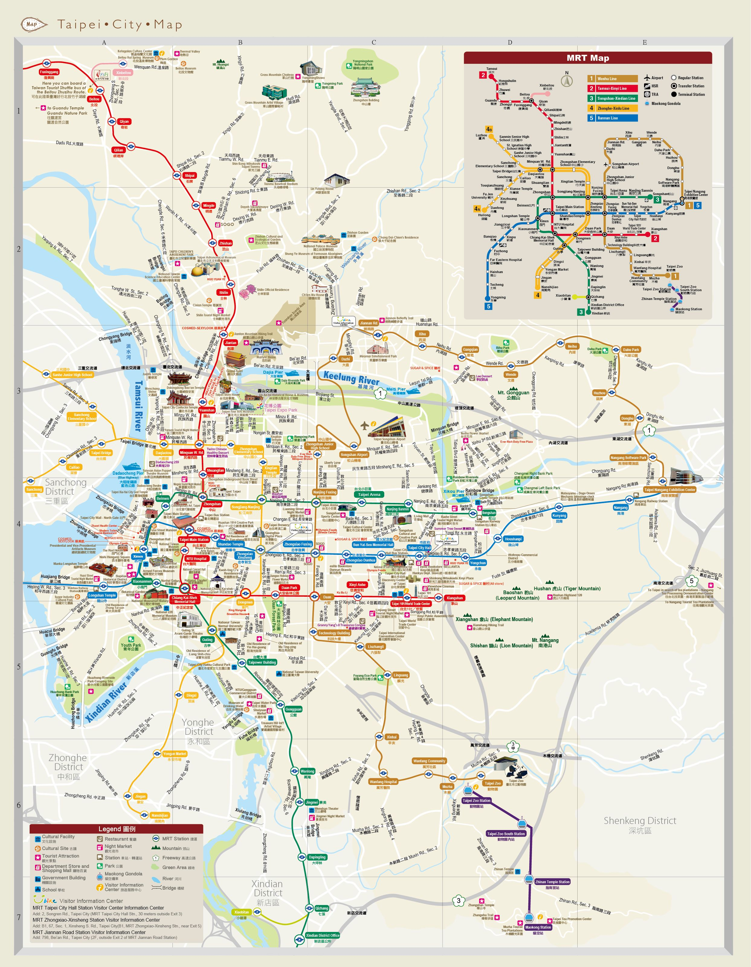 of information and tourism taipei city government new zone map tourist attractions