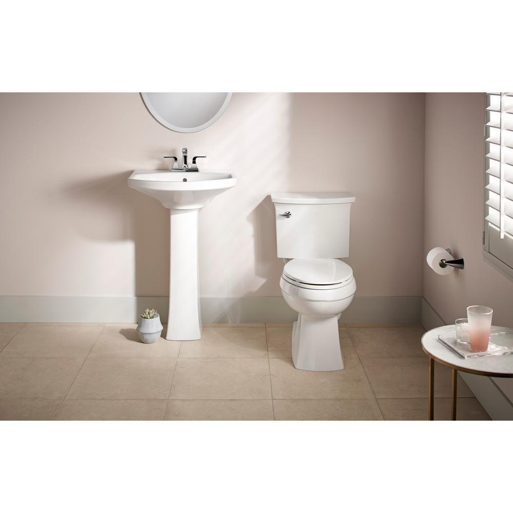 Kohler Elmbrook 24 In Pedestal Sink In White With 4 In Centerset