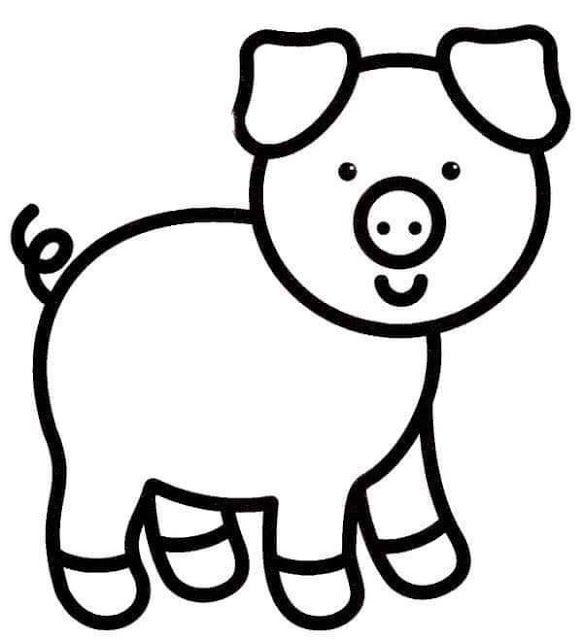 Tareitas Cerdito Para Colorear Cerdo Para Colorear Animales Animados Para Colorear Dibujos Para Pintar Faciles