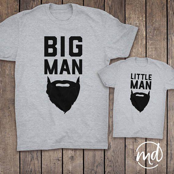Big Man Little Man, Dad and son matching beard shirts, Future Beard, Father and Son Matching Shirts, Matching Father Son Shirts Father's Day