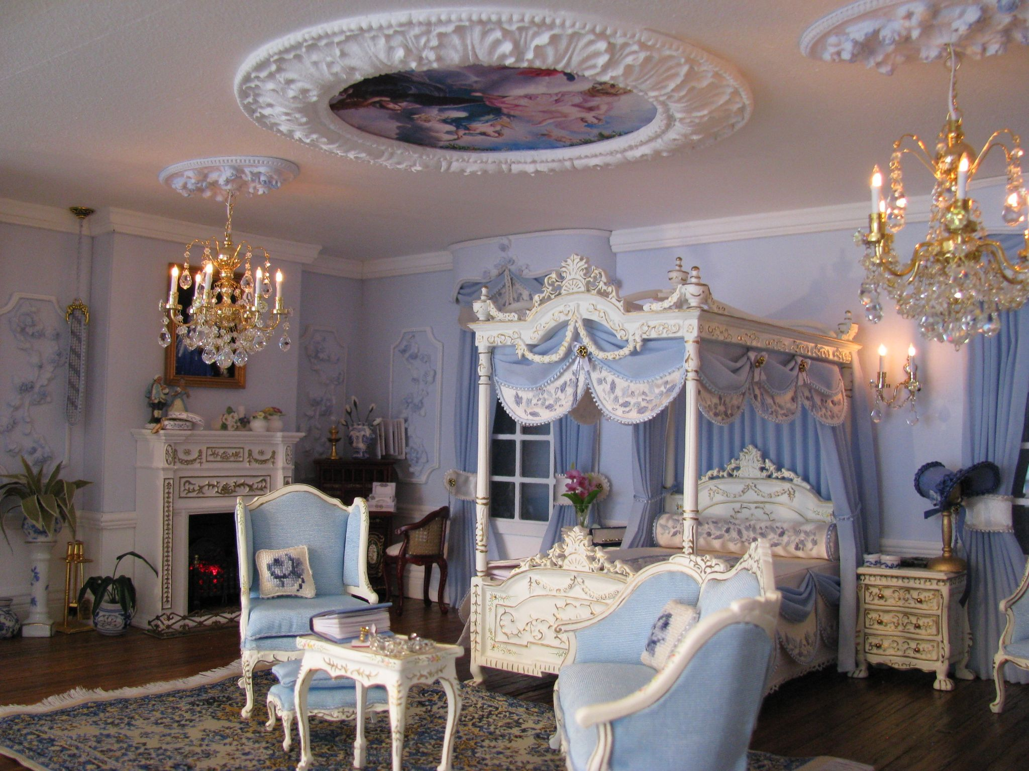 Another French themed bedroom.