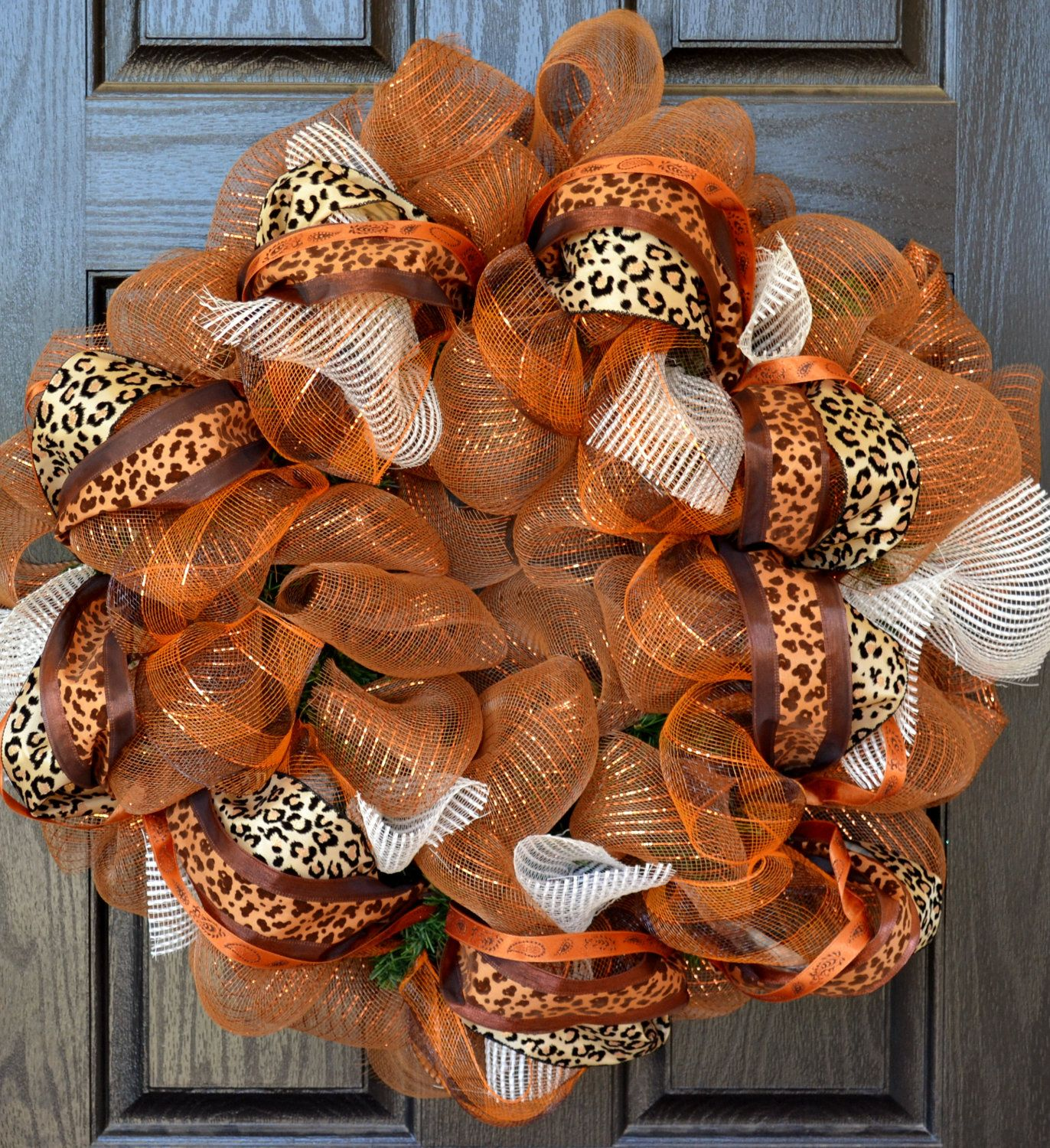 Fall Wreath Custom Wreath Handmade Wreaths Deco Mesh