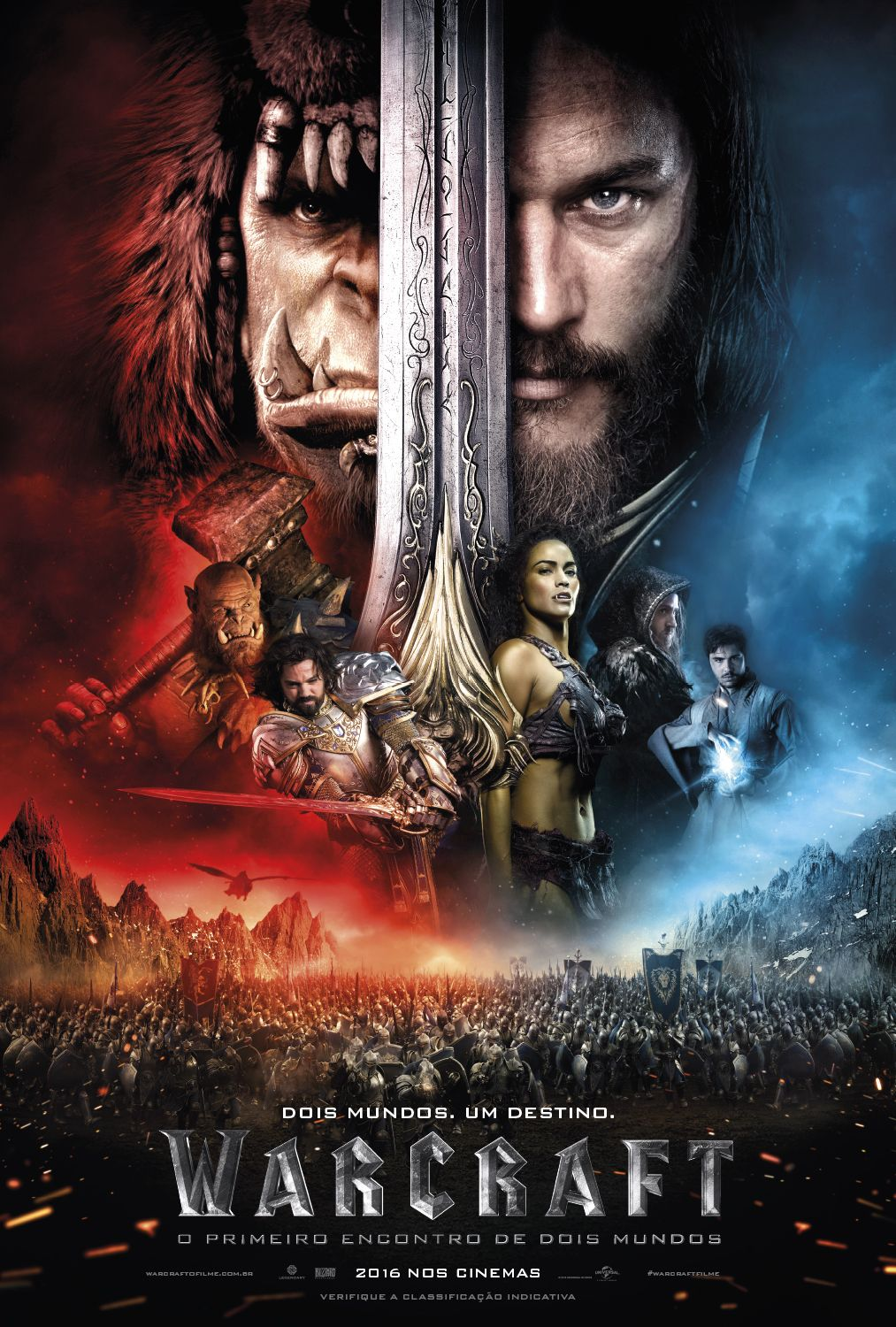 Cartaz Oficial Do Filme Warcraftfilme Warcraft Cartaz Filme