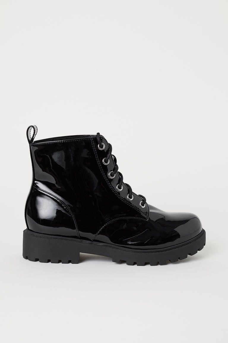 6981aeee160 Pile-lined Boots in 2019 | clothes | Boots, Black boots, Shoe boots