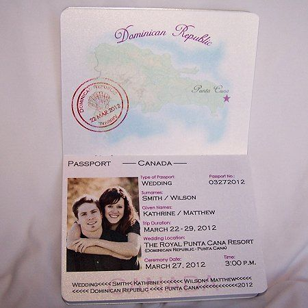 Enchanted Moments Invitations Cards December 2011 Passport Invitation Template Passport Wedding Invitations Template Passport Invitations