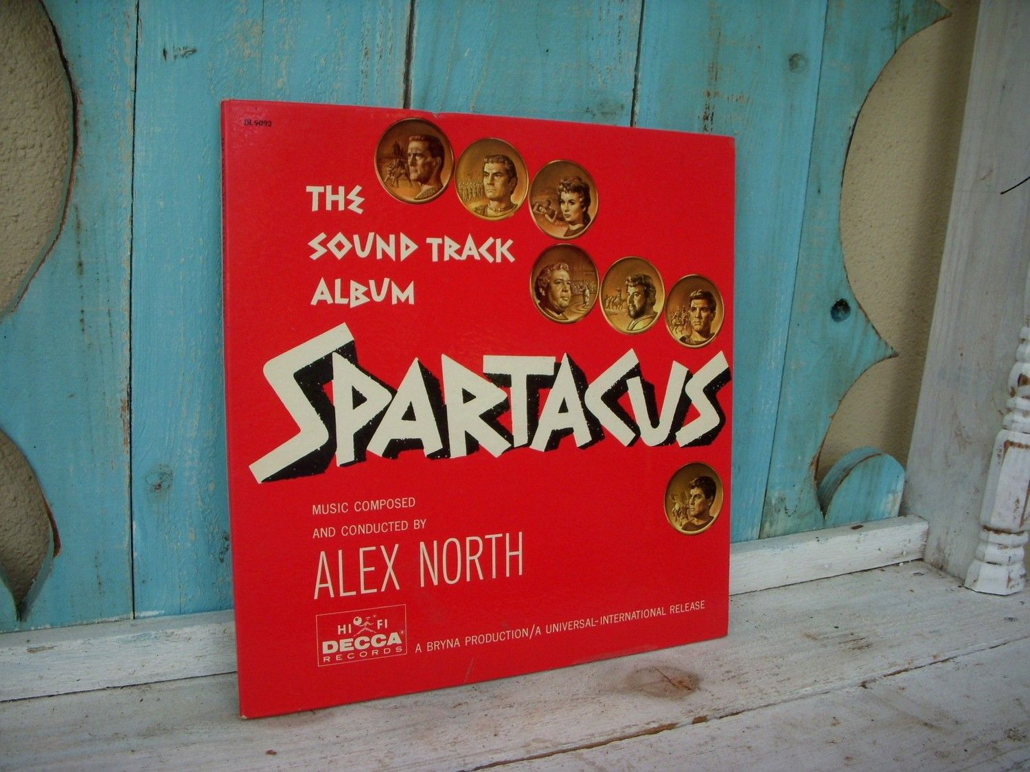 Vintage Movie Soundtrack Spartacus Vinyl 60s Music Album Record Classic Movies Gifts For Move Buffs Movie Lovers Him Her Wife Usa Movie Soundtracks Vintage Movies Music Albums