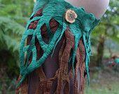 Felt Rain Forest Leaf And Tree Roots Woodland Nymph Fairy Pixie Belt OOAK