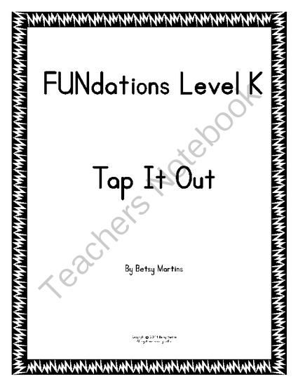 FUNdations Level K Tap It Out From TheSpecialtyShop On
