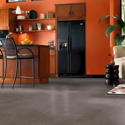 TrafficMASTER Groutable 18 In. X 18 In. Taupe Cotto Peel And Stick Vinyl  Tile (36 Sq. Ft. / Case)