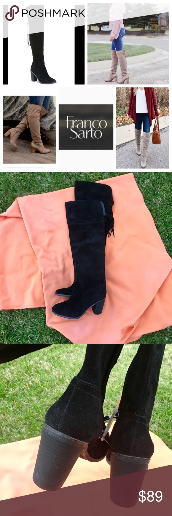 bf49dd8457d New! Franco Sarto Ellyn over the Knee Boots New! Franco Sarto Over ...