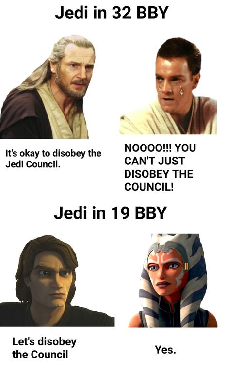 So Uncivilized Prequelmemes Star Wars Jokes Star Wars Ahsoka Star Wars Quotes