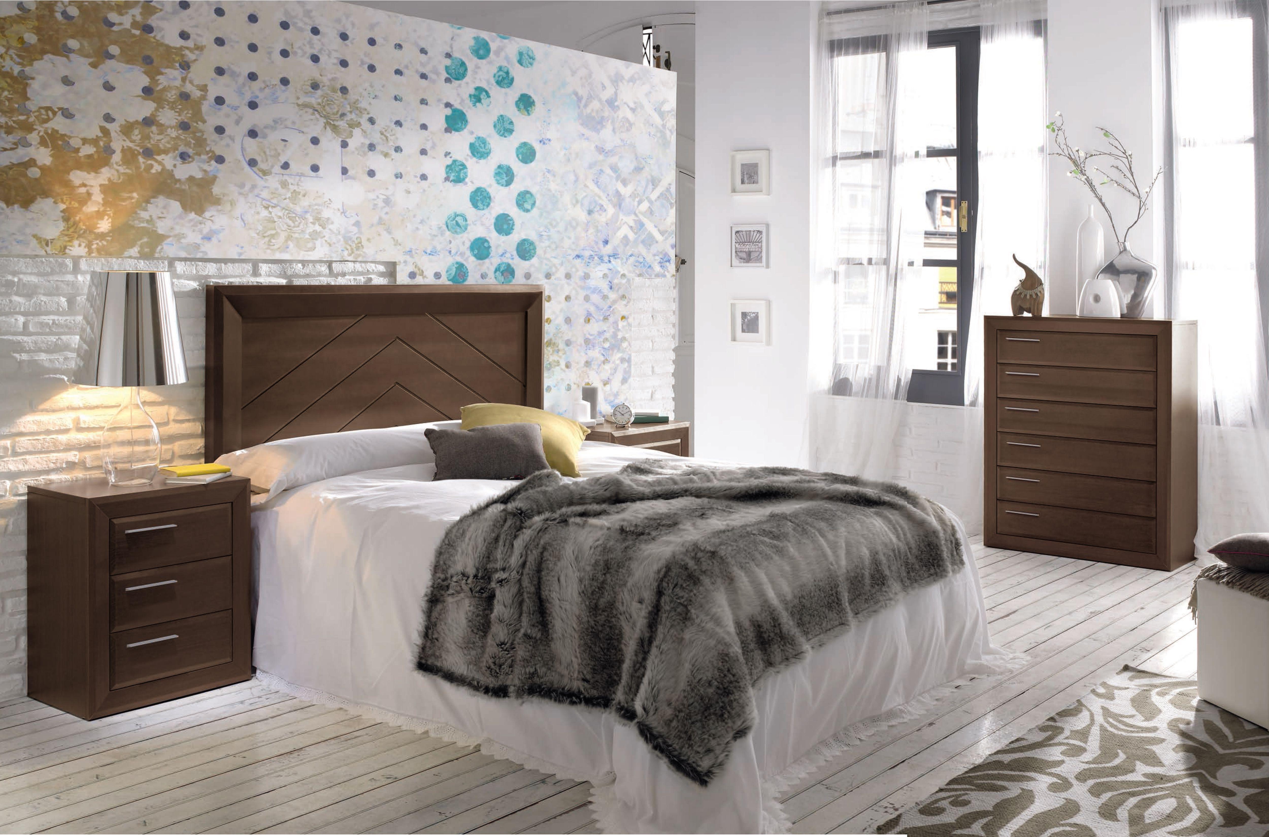 Conjunto dormitorio de matrimonio estilo moderno para cama de 150 y ...