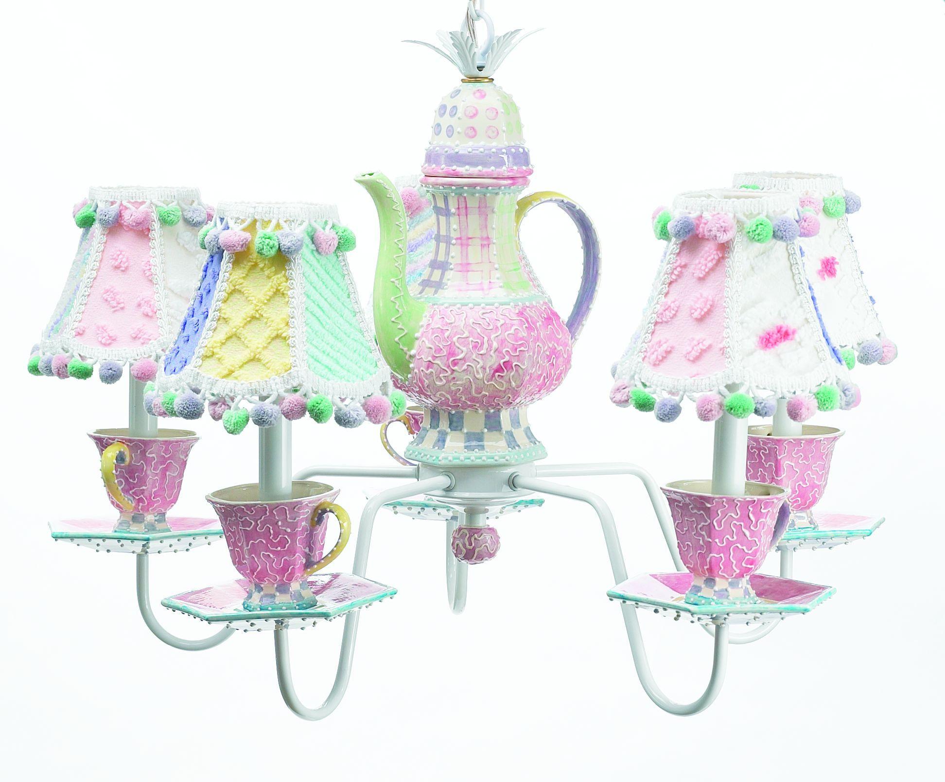 Tea party Chandelier Tea Time Pinterest