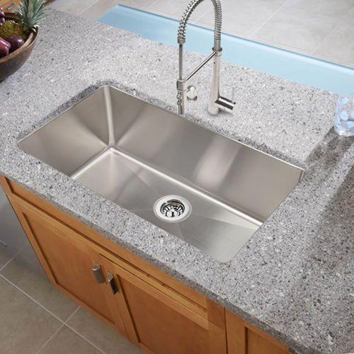 hahn stainless steel single bowl sink