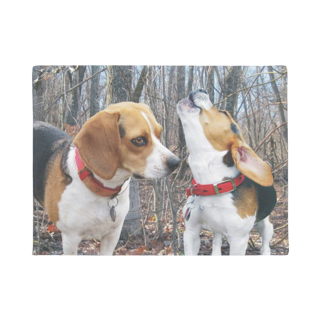 Beagles In Woods Door Mat Wood Doors Personalized Door Mats Beagle