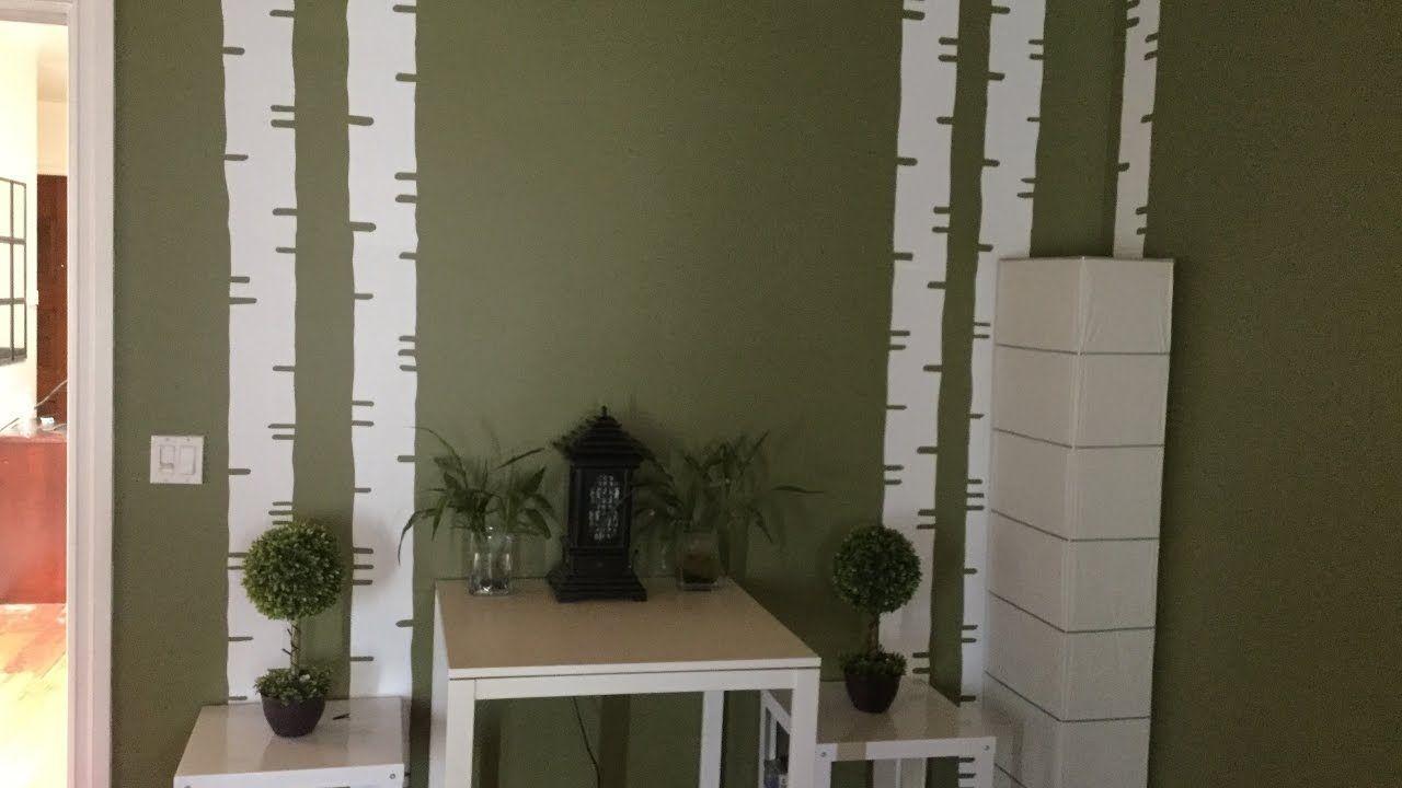 DIY Birch Tree Vinyls Wall Decor Under 5.00