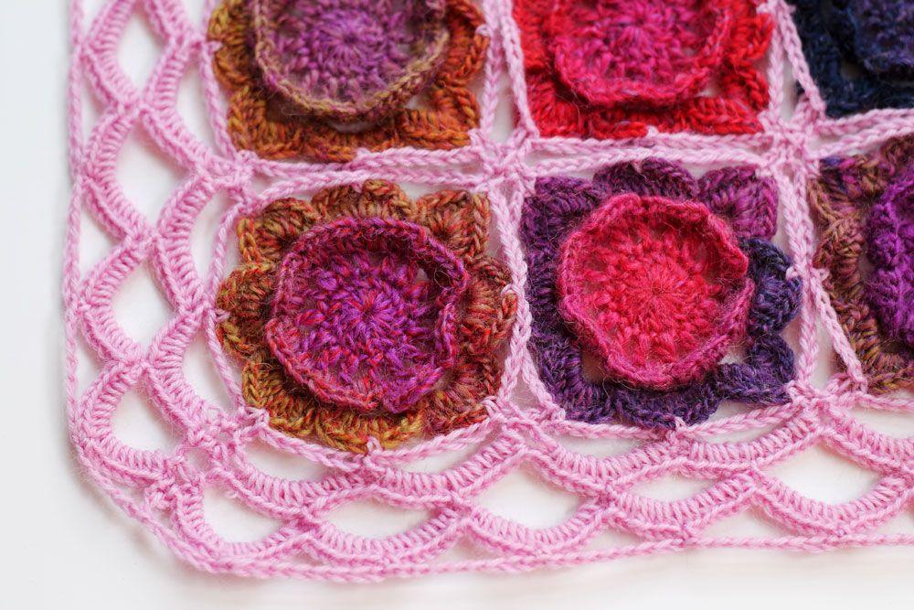 Free crochet pattern for Primrose flower blanket (ENG/NL | Primroses ...